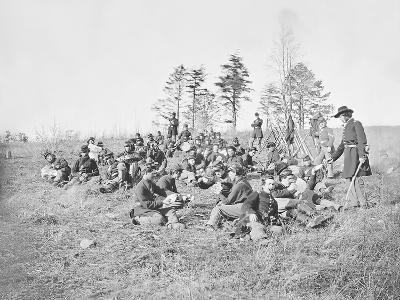 Infantry Resting from Drills During the American Civil War