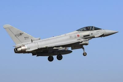 An Italian Air Force Eurofighter Ef-2000 Typhoon Prepares for Landing