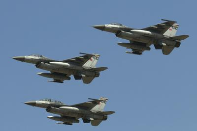 A Formation of Turkish Air Force F-16C/D Aircraft