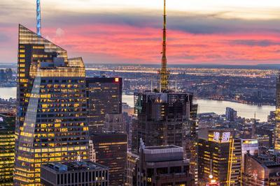 Midtown Skyline with Empire State Building from the Rockefeller Center, Manhattan, New York City
