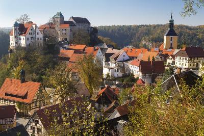 Castle Hohnstein in Autumn, Hohnstein, Saxon Switzerland, Germany