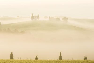 Early Morning Mist, Cappella Di Vitaleta, Chapel, Val D'Orcia, Tuscany, Italy
