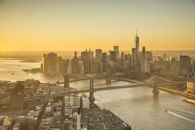 One World Trade Center, Manhattan and Brooklyn Bridges, Manhattan, New York City, New York, USA