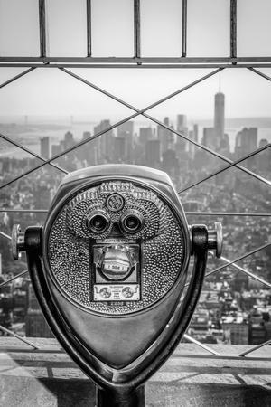 Usa, New York, Manhattan, Lower Manhattan from Empire State Building, Freedom Tower in Background