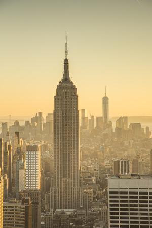 Empire State Building (One World Trade Center Behind), Manhattan, New York City, New York, USA