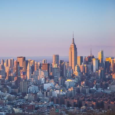 Empire State Building and Manhattan, New York City, New York, USA