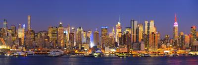 Usa, New York, New York City, Manhattan Skyline from New Jersey