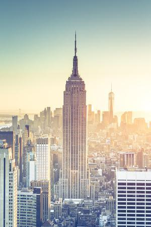 Usa, New York, New York City, Empire State Building and Midtown Manhattan Skyline