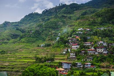 View over the Town of Banaue, Northern Luzon, Philippines