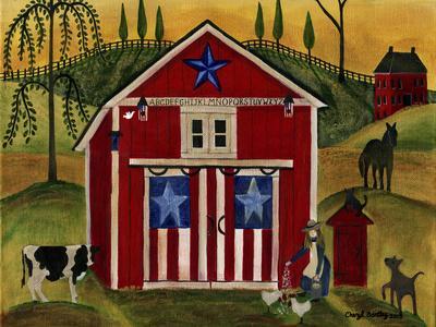 Sunrise Red White Blue Barn Lang