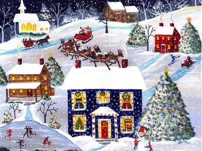 Santa Reindeer Christmas Eve Cheryl Bartley