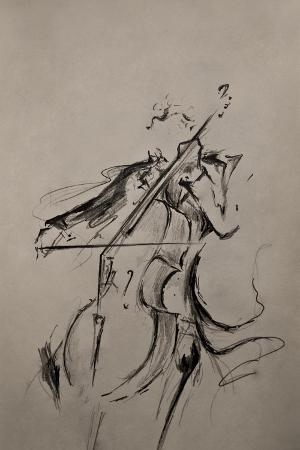 The Cellist Sketch