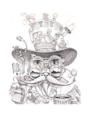 Steampunk Cat 2 pencil