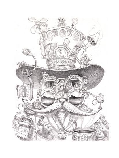 Steampunk Cat 2 Pencil Giclee Print By Jeff Haynie At AllPosters