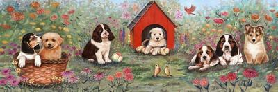 Puppies and Doghouse Border