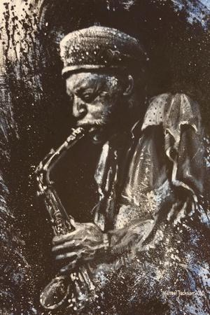 Man Playing Saxaphone