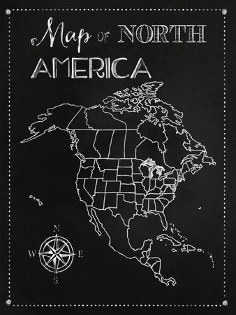 Chalk Map of North America
