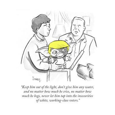 """""""Keep him out of the light, don't give him any water, and no matter how mu…"""" - Cartoon"""
