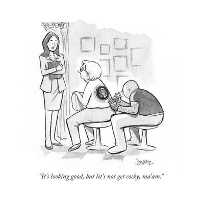 """""""It's looking good, but let's not get cocky, ma'am."""" - Cartoon"""