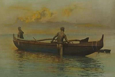 Hawaiian's Canoe, Kaneohe Bay, 1915