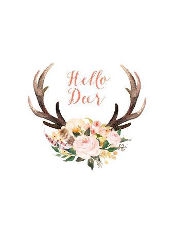 Hello Deer Floral