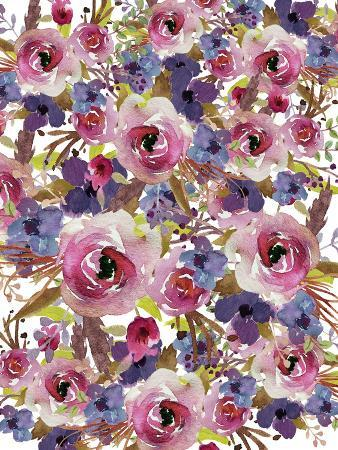 Purple Floral Collage