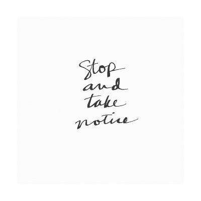Stop Take Notice