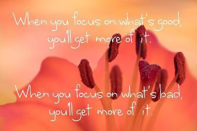 Focus on Good