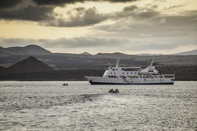 A Passenger Expedition Ship Cruises the Galapagos Islands