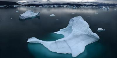 Ice Floe Floating in Scoresby Sound, Greenland