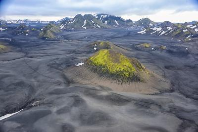 An Aerial View of a Canyon in the Interior of Southern Iceland