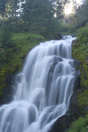 Vidae Falls in Crater Lake National Park, Oregon