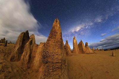 The Milky Way Above the Pinnacles in Nambung National Park of Western Australia