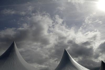 Tents Against Sky