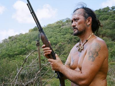 A Hunter Searches for Goats in the Marquesas Islands