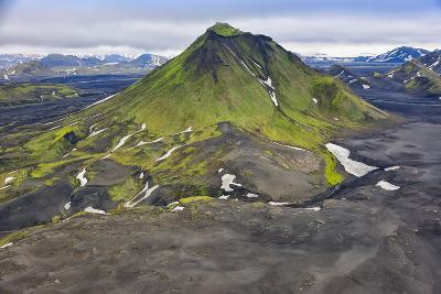 An Aerial View of Canyon in the Interior of Southern Iceland