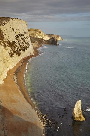 The Beach and Chalk Cliffs around Durdle Door, in the Jurassic Coast World Heritage Site