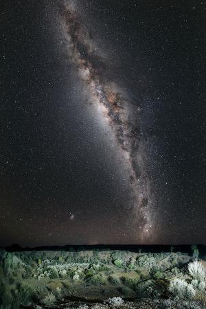 The Milky Way Above the Henbury Meteorite Craters in Australia