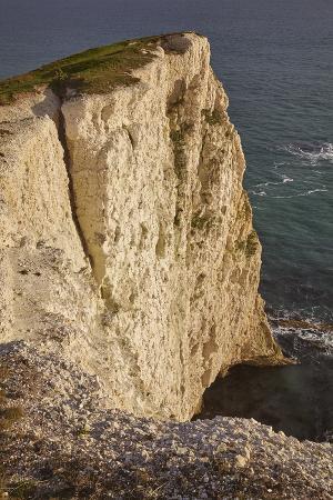 The Vertical Chalk Cliffs Near Durdle Door, in the Jurassic Coast World Heritage Site