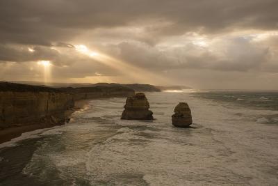 Twelve Apostles under Morning Sun Rays