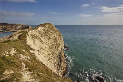 Cliffs at Lulworth Cove, in the Jurassic Coast World Heritage Site, Dorset, Great Britain