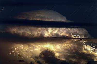 Thunderstorm Seen from Haleakala Volcanic Summit on the Island of Maui, Hawaii