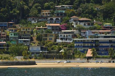 Colorful Houses on Taboga Island Off the Pacific Coast of Panama