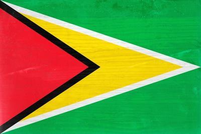 Guyana Flag Design with Wood Patterning - Flags of the World Series
