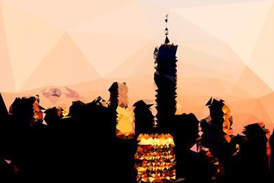 Low Poly New York Art - 1 WTC Sunset