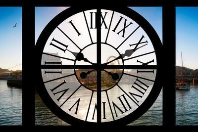 Giant Clock Window - View of the Port of Cape Town - South Africa