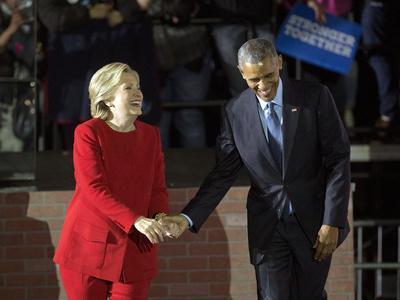 APTOPIX Campaign 2016 Obama Clinton