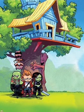 Guardians of the Galaxy Panel Featuring: Rocket Raccoon, Groot, Drax, Star-Lord, Gamora