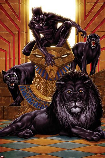 Black Panther No 1 Cover Art Prints By Mark Brooks At
