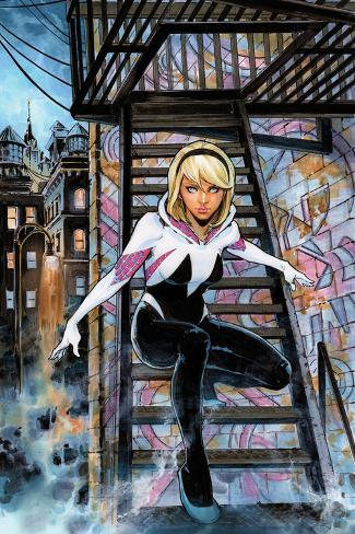 spidergwen annual no 1 cover art featuring gwen stacy